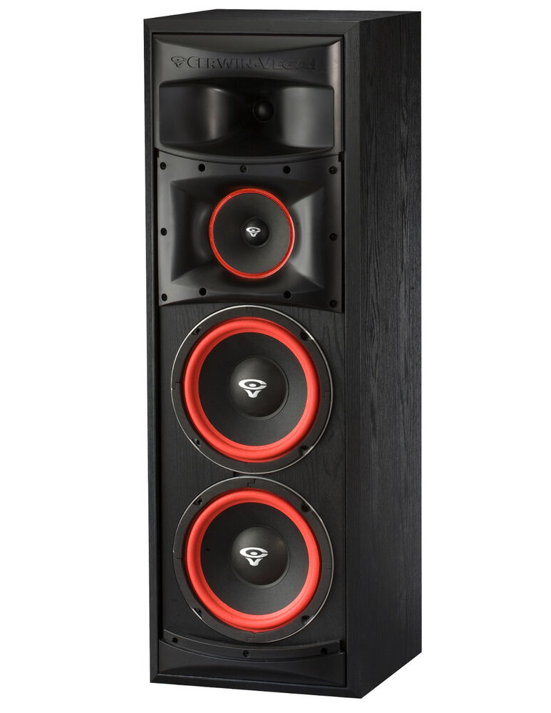 Cerwin vega xls 28 dual 8 3 way subwoofer floor standing for 12 inch floor speakers