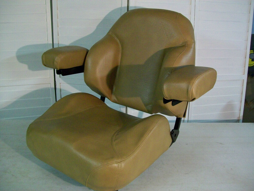 Gravely Replacement Seat : Brown seat with armrests fits scag ztr grass hopper