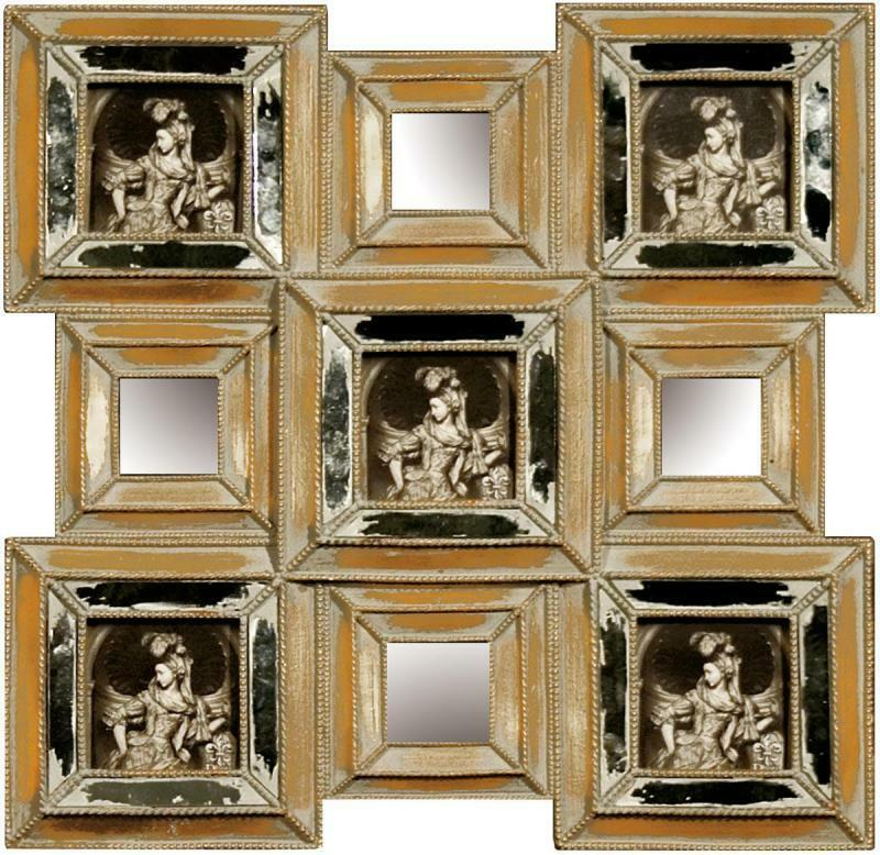 vintage wall hanging antique gold multi photo frame
