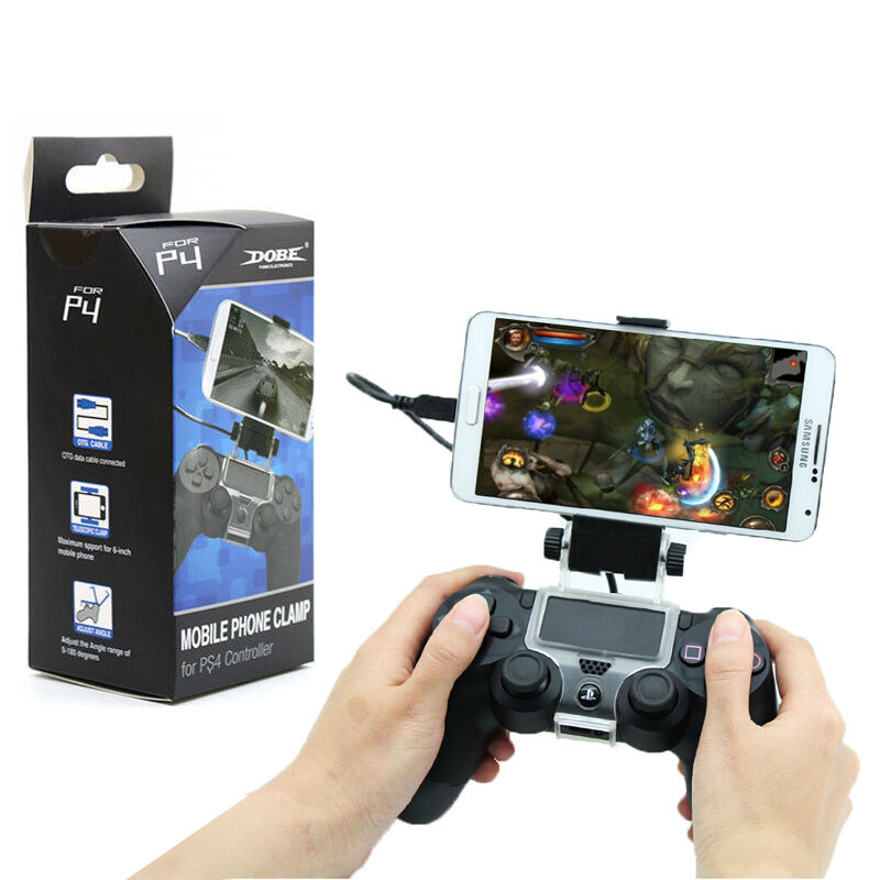 Android mobile phone smart clip clamp holder for sony ps4 for Housse manette ps4