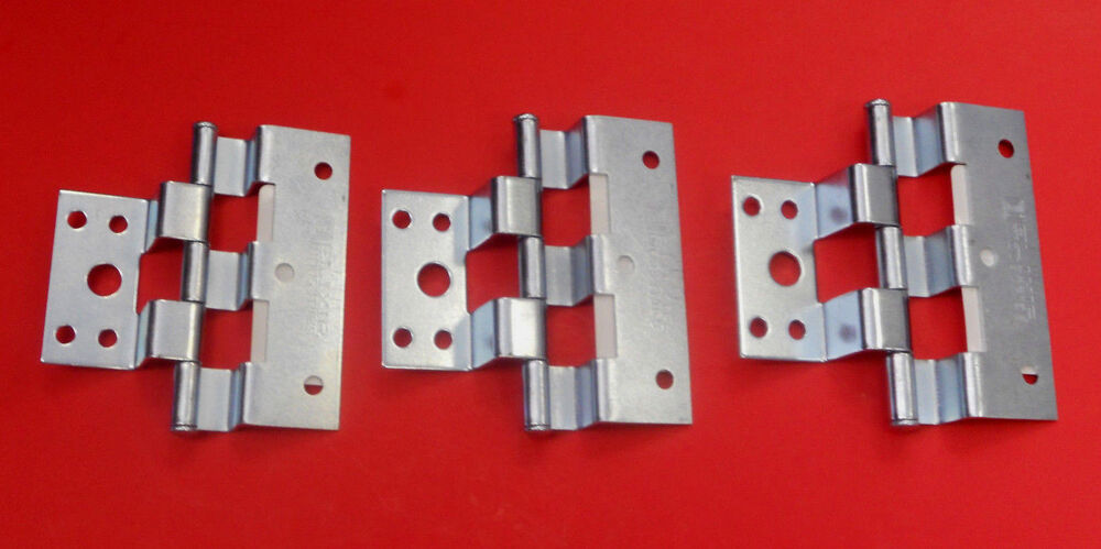 Mobile home parts silver combination combo door hinges lot - Mobile home combination exterior doors ...