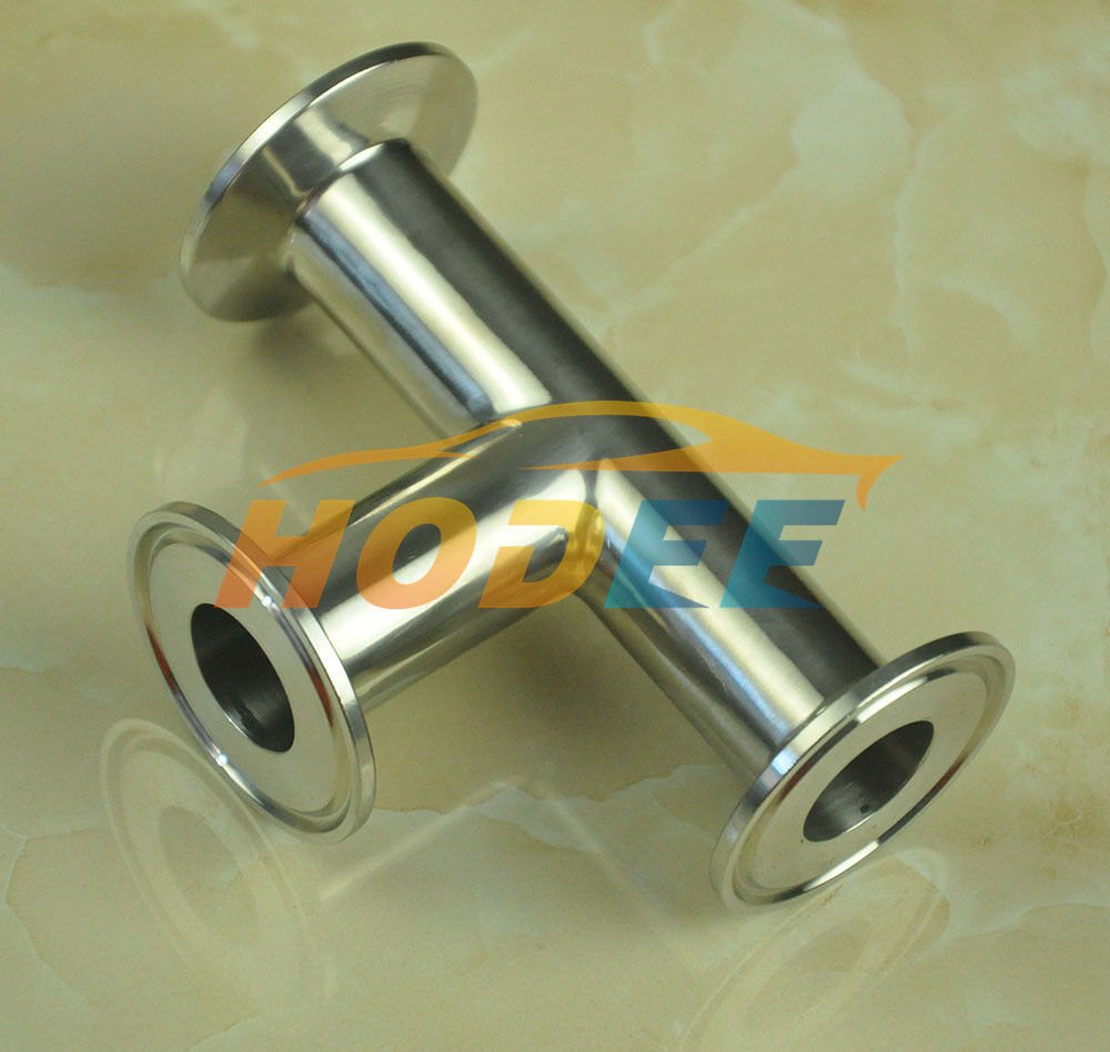 A standard sanitary stainless steel tc tee tri clamp