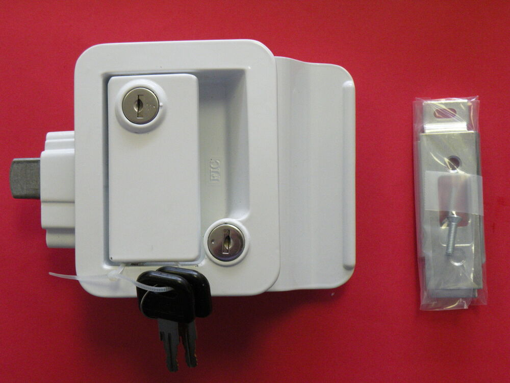Fastec White Travel Trailer Lock