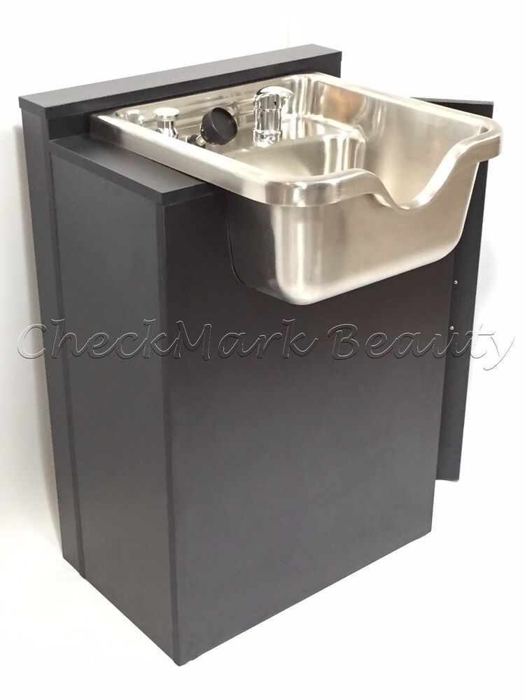 Stainless Steel Shampoo Bowl Sink Cabinet Salon Equipment TLC-1167 SS ...