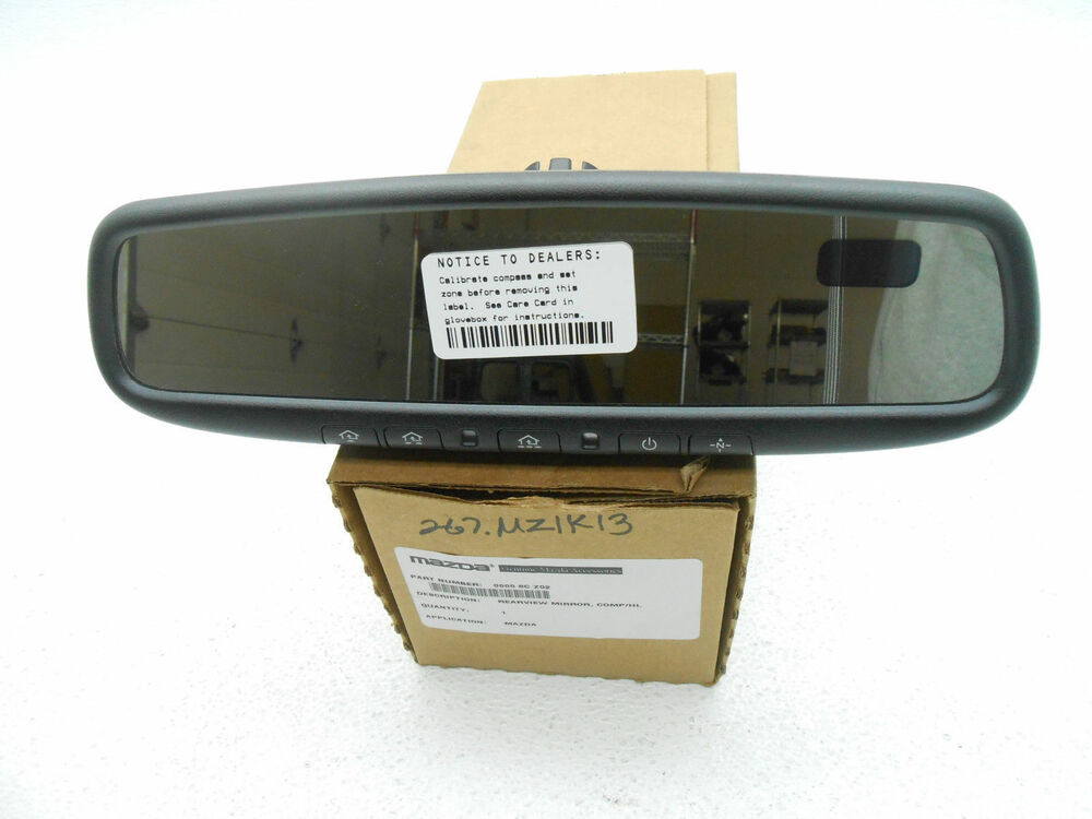 new oem mazda 3 cx 7 cx 9 tribute auto dimming homelink rear view mirror 2010 13 ebay. Black Bedroom Furniture Sets. Home Design Ideas
