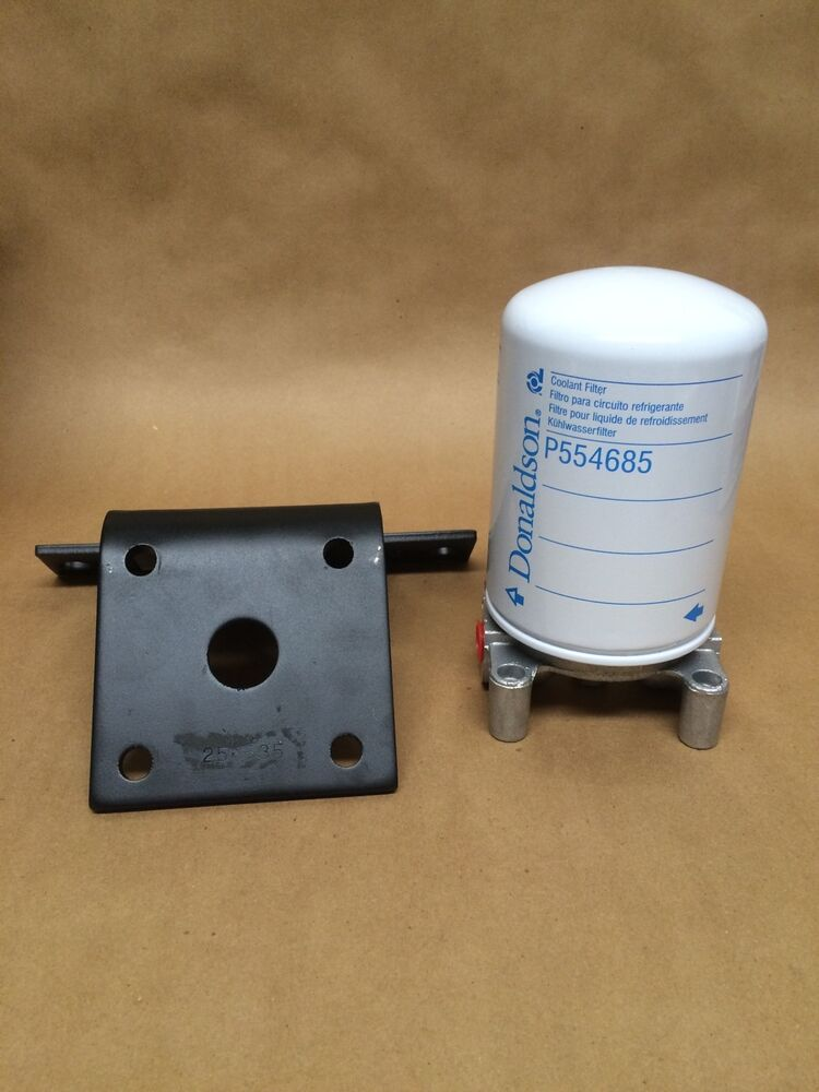 Coolant Filter Kit With Filter Head  Hd Bracket  U0026 Filter Universal Diesel Or Gas