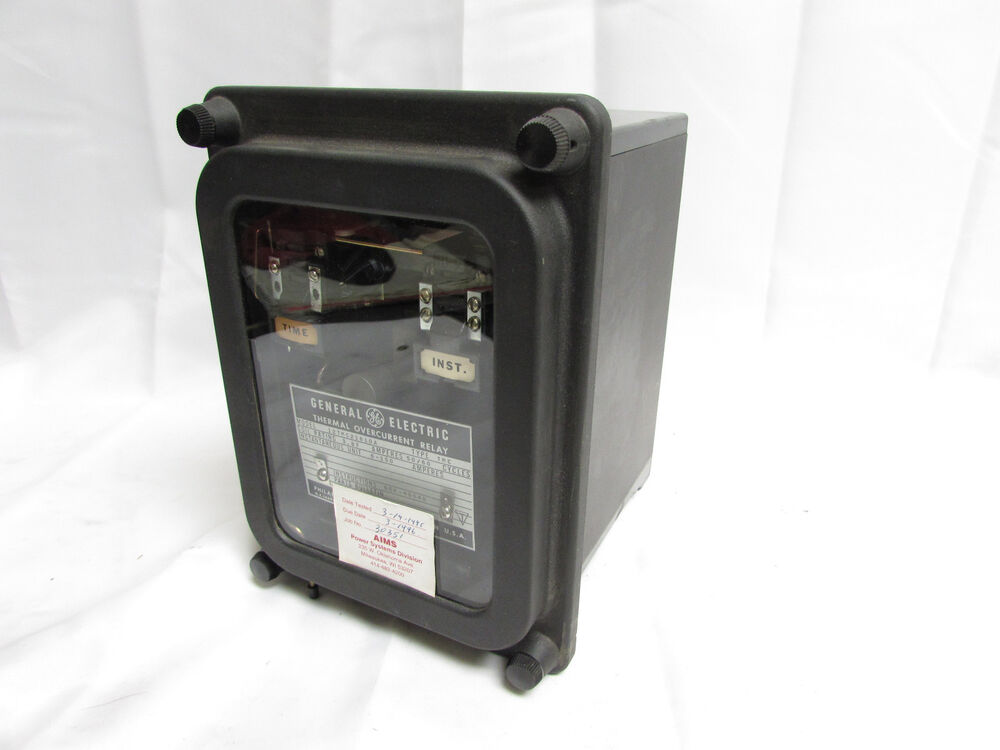 General electric 12tmc21b10a thermal overcurrent relay 3 for General electric ac motor thermally protected