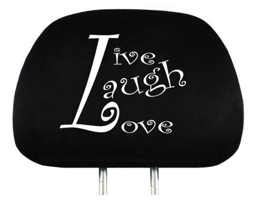 NEW DESIGN LIVE LAUGH LOVE LOGO CAR TRUCK AUTO SEAT