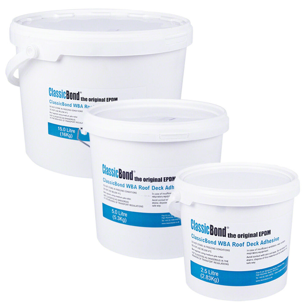 Water Based Deck Adhesive Wba For Epdm Rubber Roofing