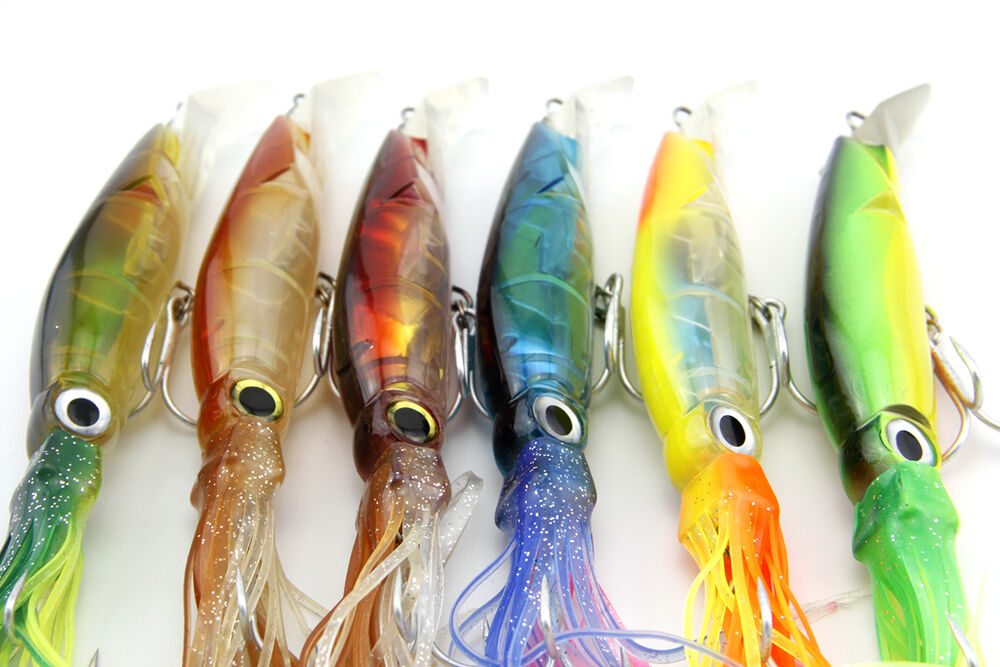 New big size fishing lures 24cm 40g fishing tackle squid for Big fish tackle