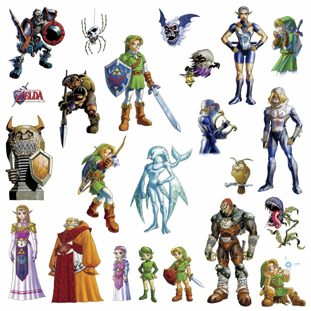 Legend of zelda 23 wall decals video game room decor for Decoration zelda