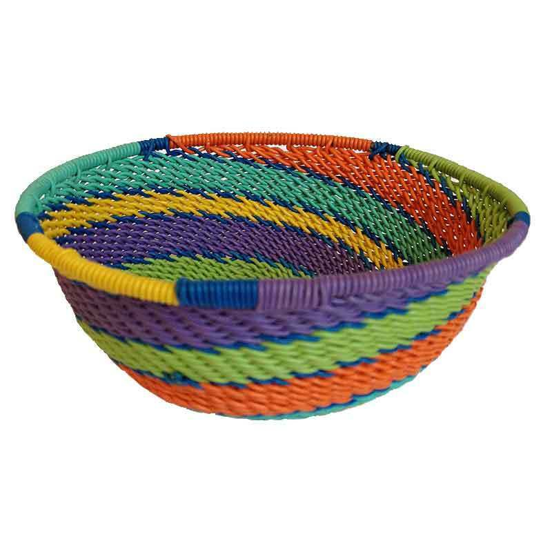 South African Baskets: Large Telephone Wire Basket