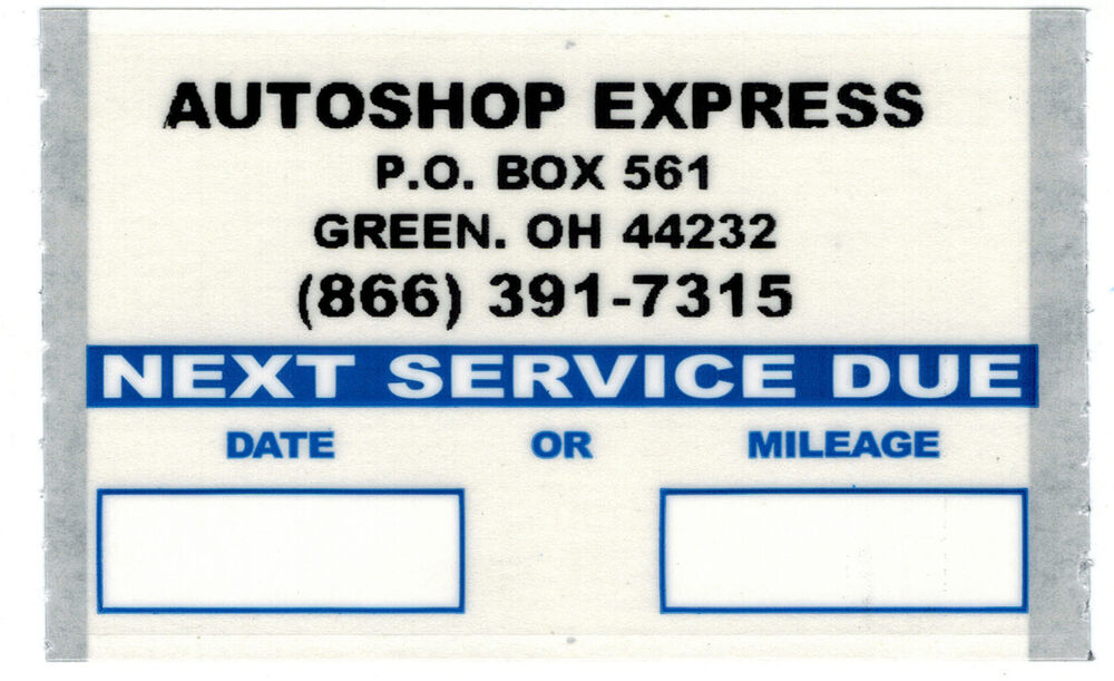 custom oil change stickers 1000 roll orl10001 ebay With custom oil change stickers