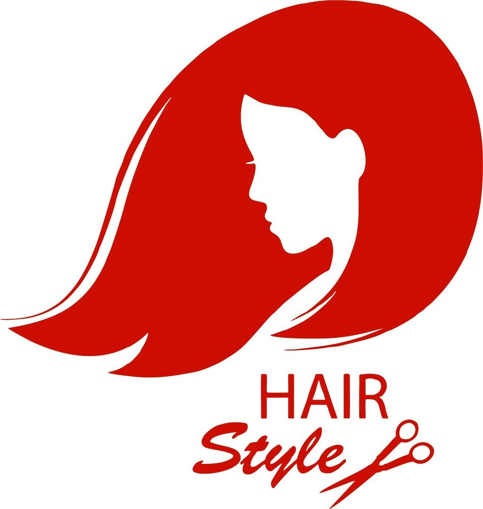 hair girl stylist beautytanning salon car truck window wall vinyl decal sticker ebay. Black Bedroom Furniture Sets. Home Design Ideas