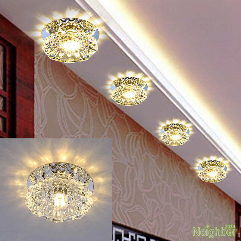 Modern Porch Ceiling Lights : Modern crystal w led ceiling light lamp downlight