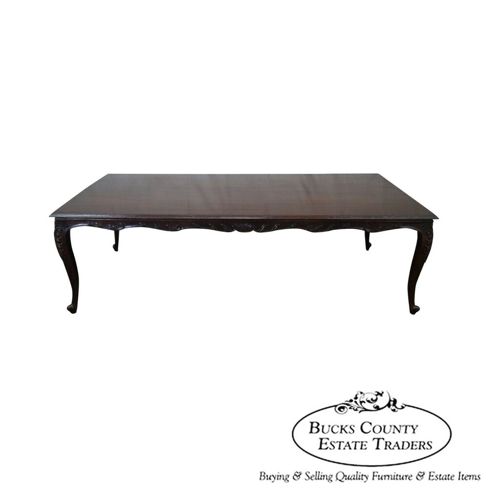 Custom quality french louis xv style walnut dining table - Table de chevet louis xv ...