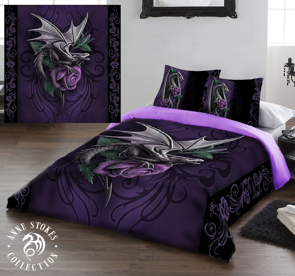 anne stokes dragon beauty duvet cover set available in double and king ebay. Black Bedroom Furniture Sets. Home Design Ideas