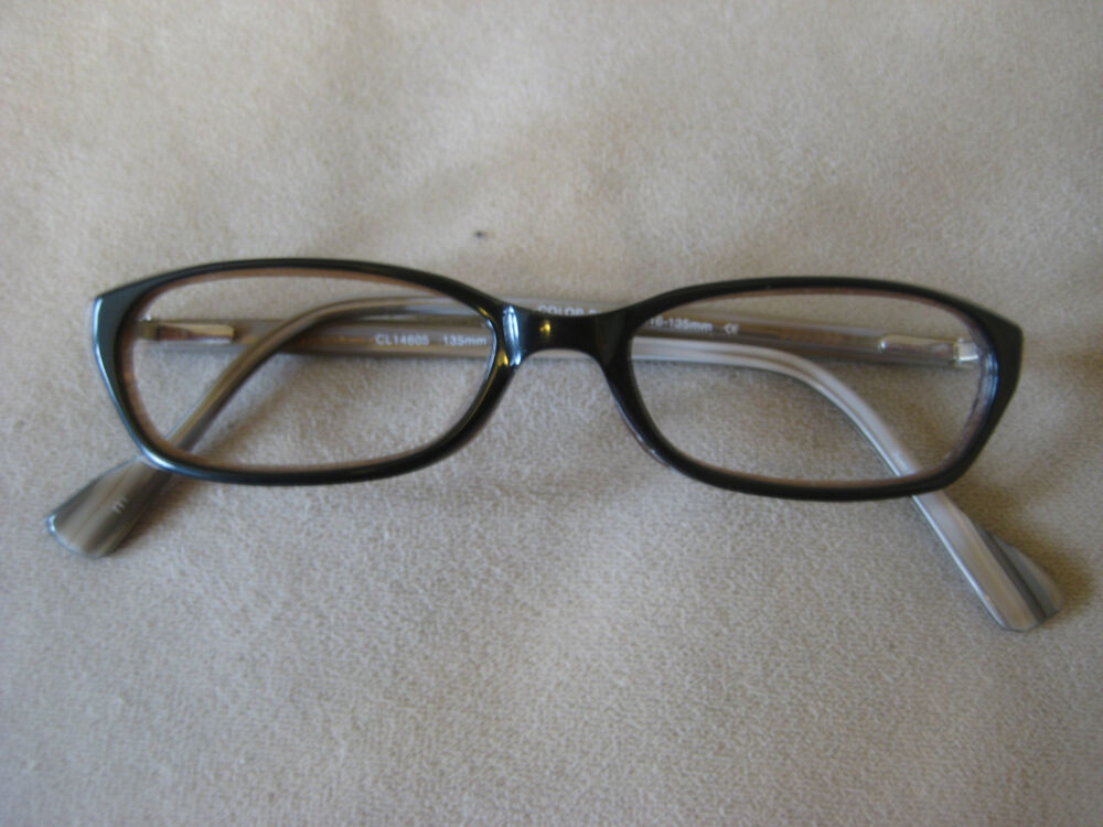 Blue Black Glasses Frames : Club Blue Black Eyeglasses Frames Cateye 49-16-135 eBay