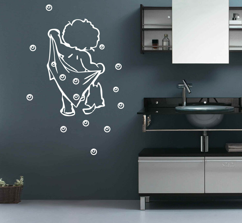 BATH Bathroom Bubble Removable DIY Wall Stickers Decal UK SH165