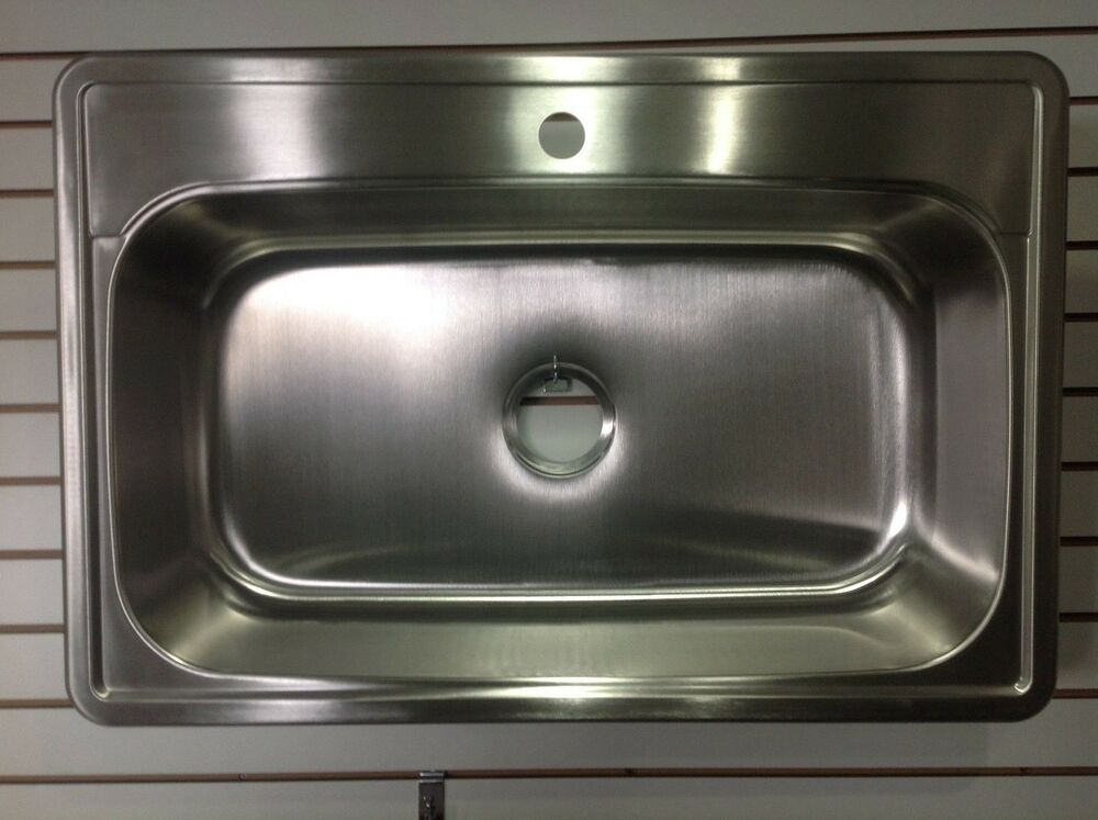 kitchen sink ebay 33 quot x 22 quot top mount drop in 1 stainless steel single 2692