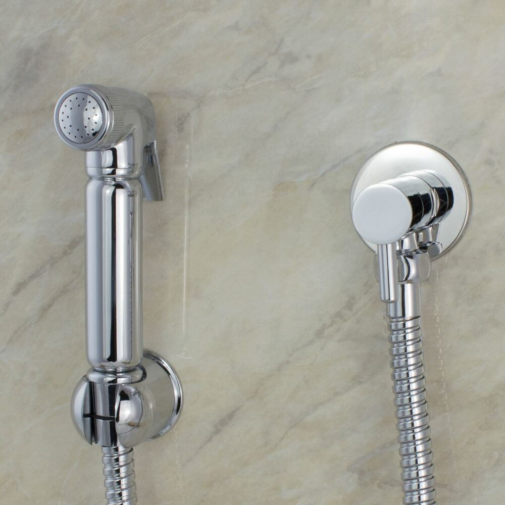 Chrome Muslim Shataff Bidet Douche Hand Shower Toilet