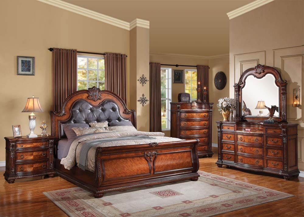 Antique Traditional Formal Luxury Nathaneal Queen King