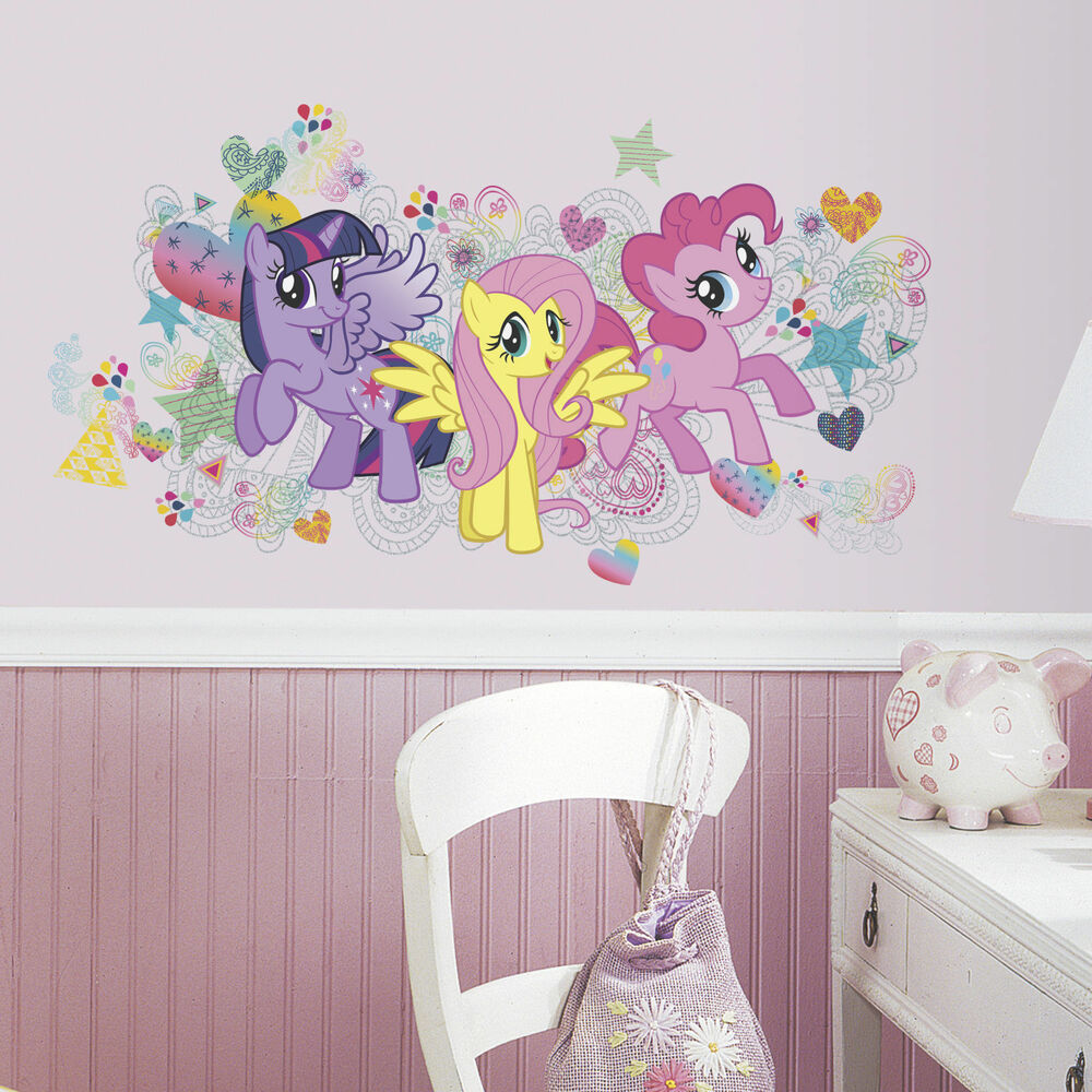 My Little Pony Big Wall Mural Decals Pinkie Pie Fluttershy