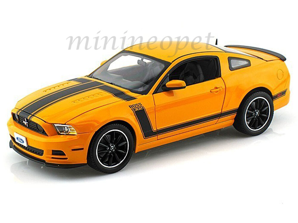 collectibles 451 2013 ford mustang boss 302 1 18 orange. Black Bedroom Furniture Sets. Home Design Ideas