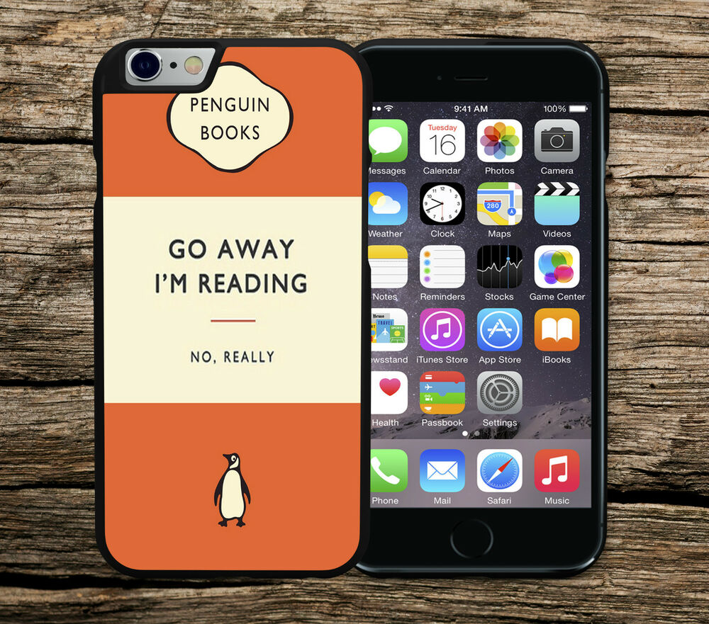 Penguin Book Cover Iphone Case : Go away i m reading retro penguin book iphone c se