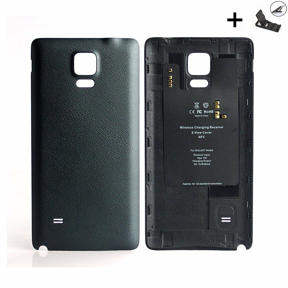 original genuine wireless samsung galaxy note 4 battery cover case charger back ebay. Black Bedroom Furniture Sets. Home Design Ideas