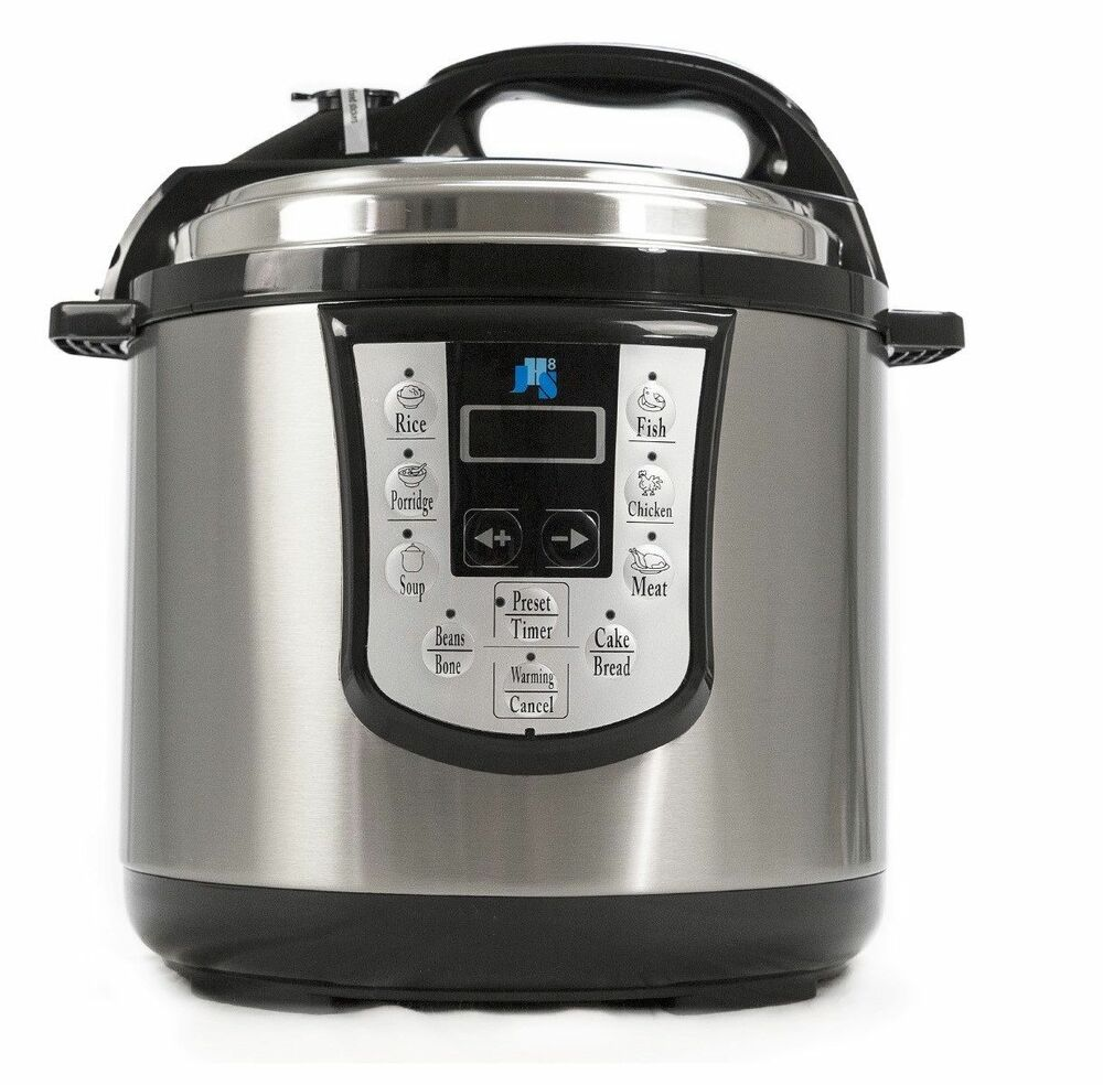 Jhs8 11 In 1 Electronic Pressure Cooker Stainless Steel 1000w 6l Non Stick 240v Ebay