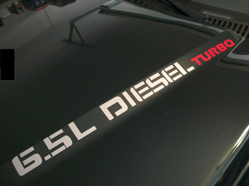 (2) 6.5L TURBO DIESEL Hood Decals Stickers Chevy Silverado ...