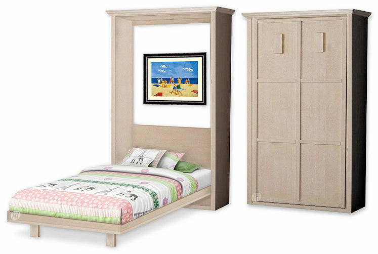 ... Kid's Murphy Twin Vertical Wall Bed Woodworking Plans, 1TVWB | eBay