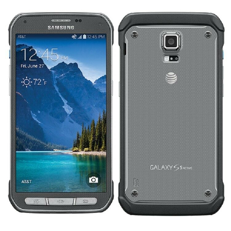 New Samsung Galaxy S5 Active SM-G870A AT&T 16GB Gray ...