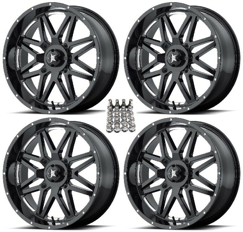 Atv Rims Wheel Covers : Msa m vibe atv wheels rims black mill quot sportsman rzr