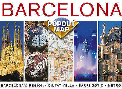 Barcelona Europe Popout Maps Compass Maps Used Good Book Ebay