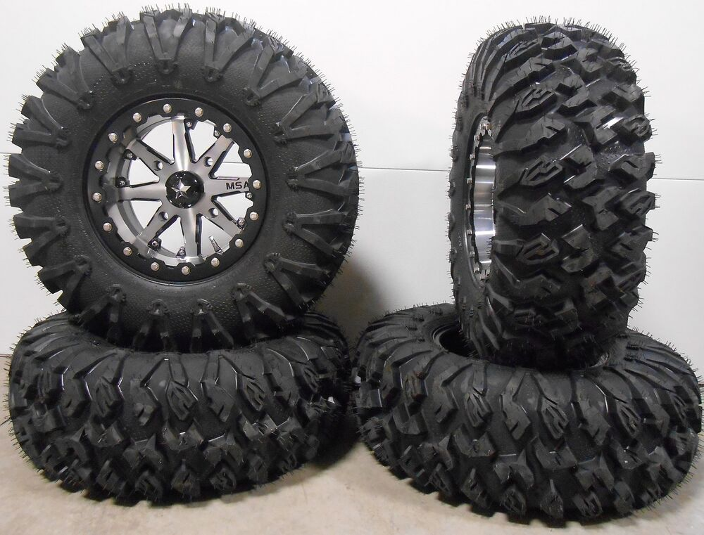 msa lok 14 utv wheels 30 motoclaw tires polaris rzr 1000 xp ebay. Black Bedroom Furniture Sets. Home Design Ideas