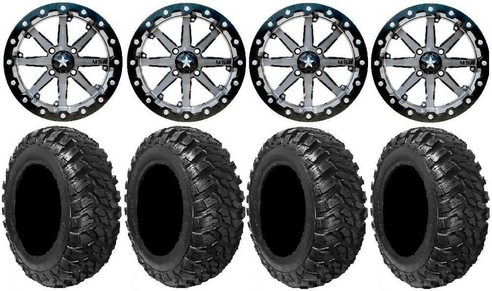 msa lok 14 utv wheels 30 kanati mongrel tires polaris rzr 1000 xp ebay. Black Bedroom Furniture Sets. Home Design Ideas