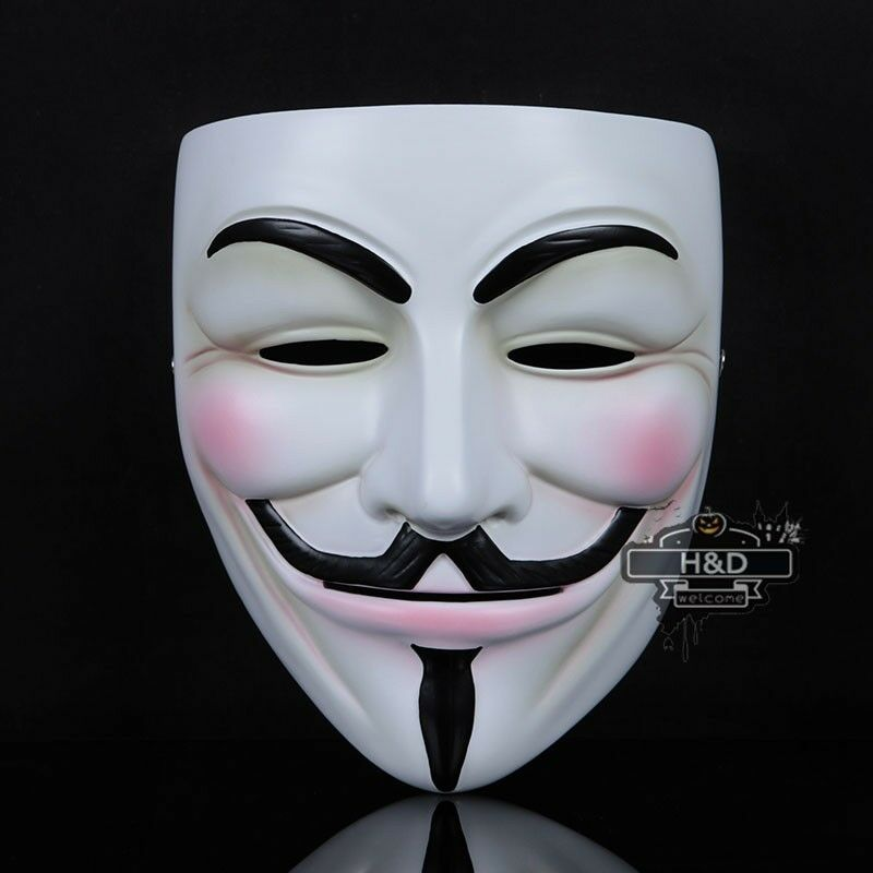 Resin v for vendetta anonymous guy fawkes mask halloween costume fancy dress ebay - Pictures of anonymous mask ...