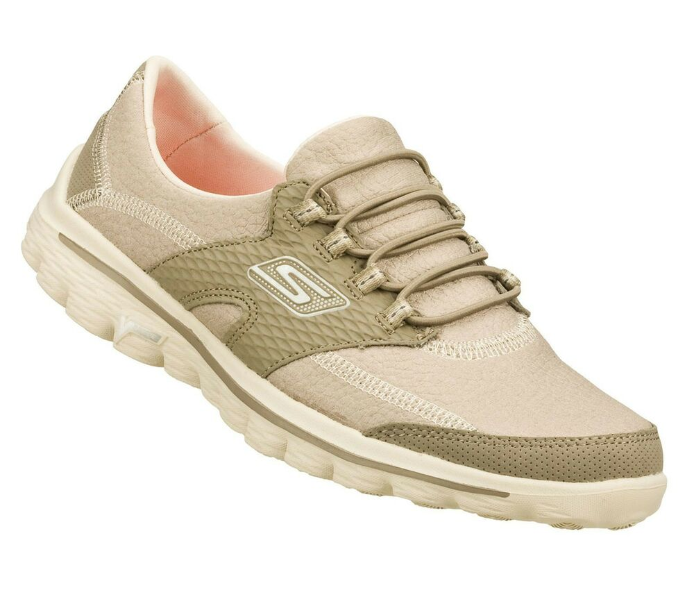 Womens Taupe Walking Shoes