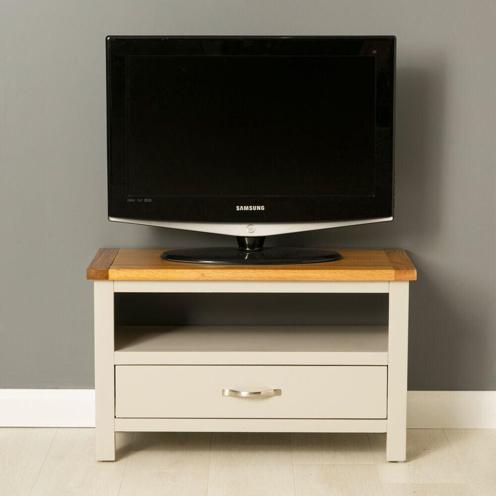 Mullion Painted Small TV Stand / Small Oak TV Unit ...