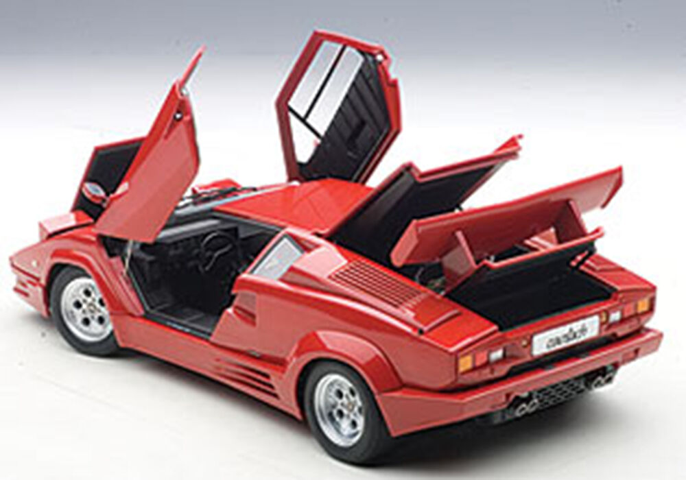 autoart lamborghini countach 25th anniversary edition red 1 18 scale new in stok ebay. Black Bedroom Furniture Sets. Home Design Ideas