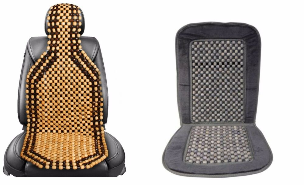 Universal Wooden Beaded Back Massage Car Seat Covers