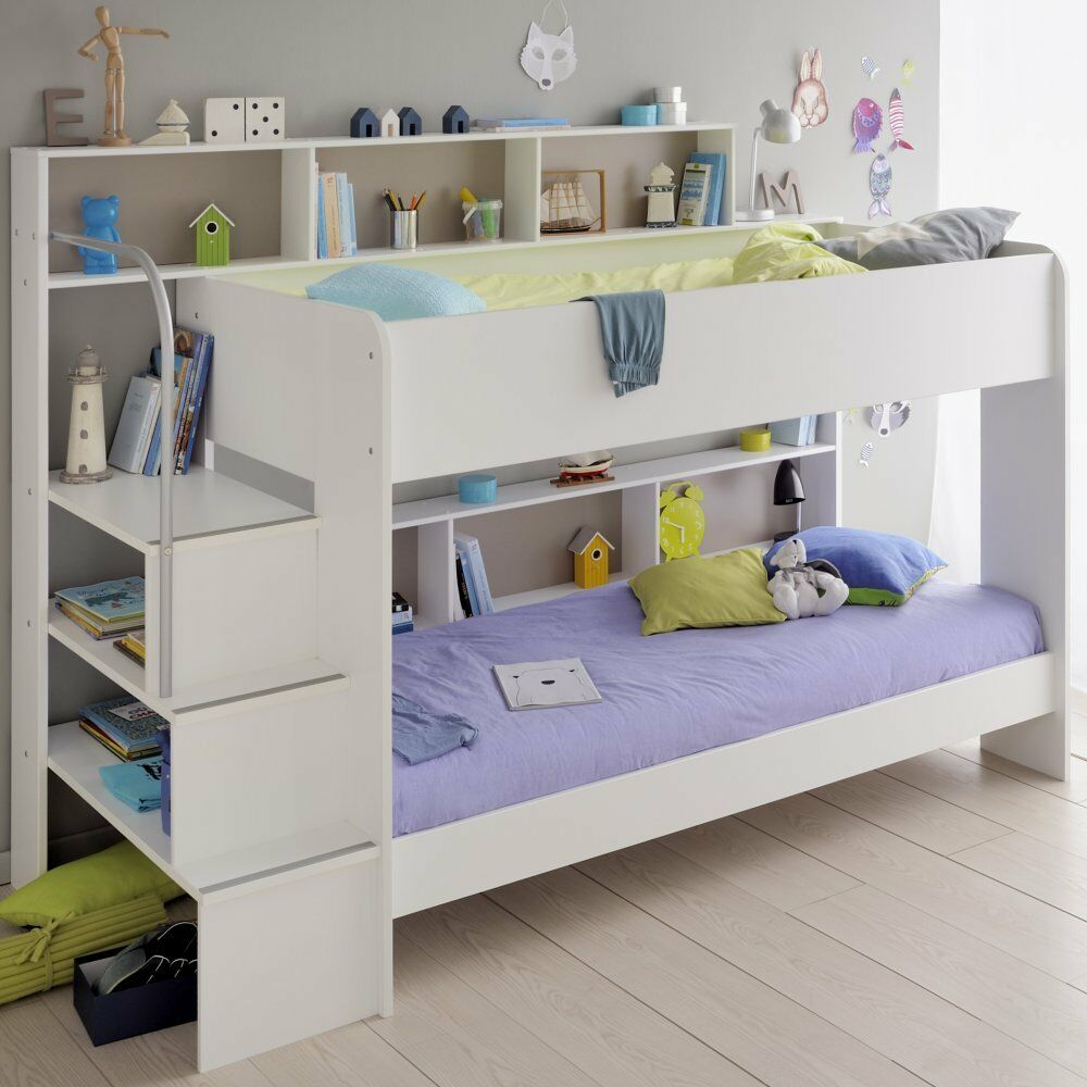 etagenbett stockbett hochbett 2 x liegefl chen 90x200 cm kinderzimmer weiss neu ebay. Black Bedroom Furniture Sets. Home Design Ideas