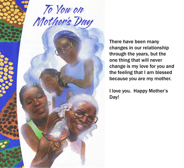 African American Greeting Cards Mother 39 S Day Memories Older Ebay