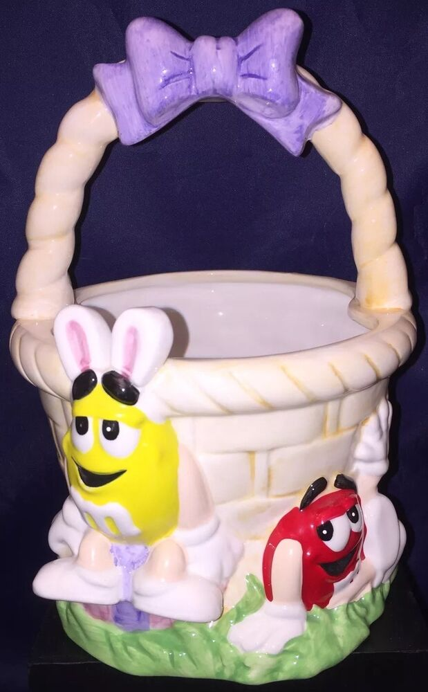 New M Amp M S 174 M Amp M Ceramic Easter Basket Ftd Flower Or Candy