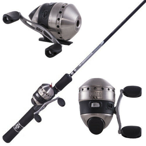 Zebco 33 micro spincast rod reel combo 2 piece ultra light for Micro fishing reel