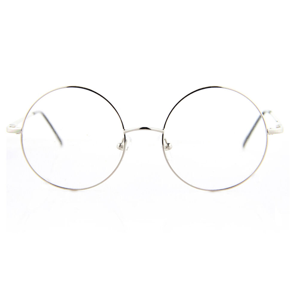 Glasses Frames Large Sizes : Oversize Retro Spring Hinge Round Optical Rx Eyeglasses ...