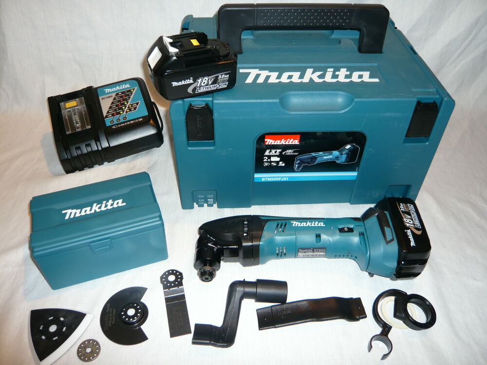 makita 18v akku multi tool dtm50rfjx1 makpac 2x3ah akku multifunktionswerkzeug ebay. Black Bedroom Furniture Sets. Home Design Ideas