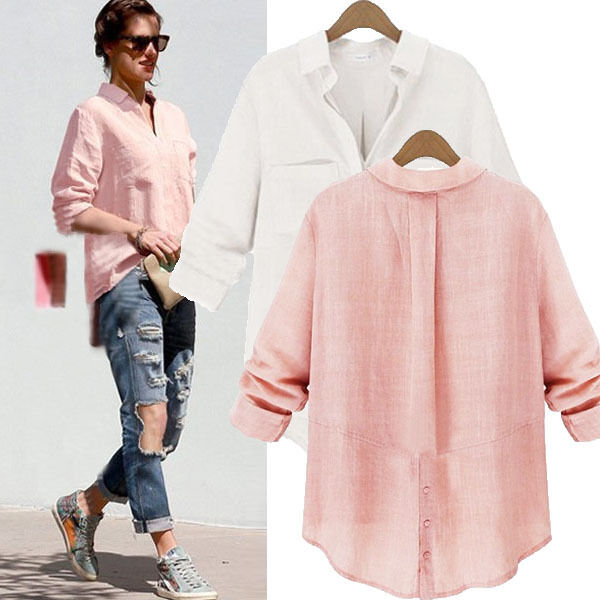 Zanzea s 5xl women collar button down shirt long sleeve for Women s button down shirts extra long